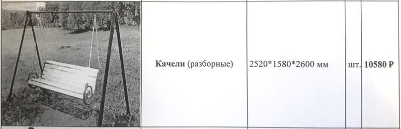 Аналогичные качели бОльшего размера в шесть (!) раз дешевле можно заказать на малоярославецком предприятии «Прометей».