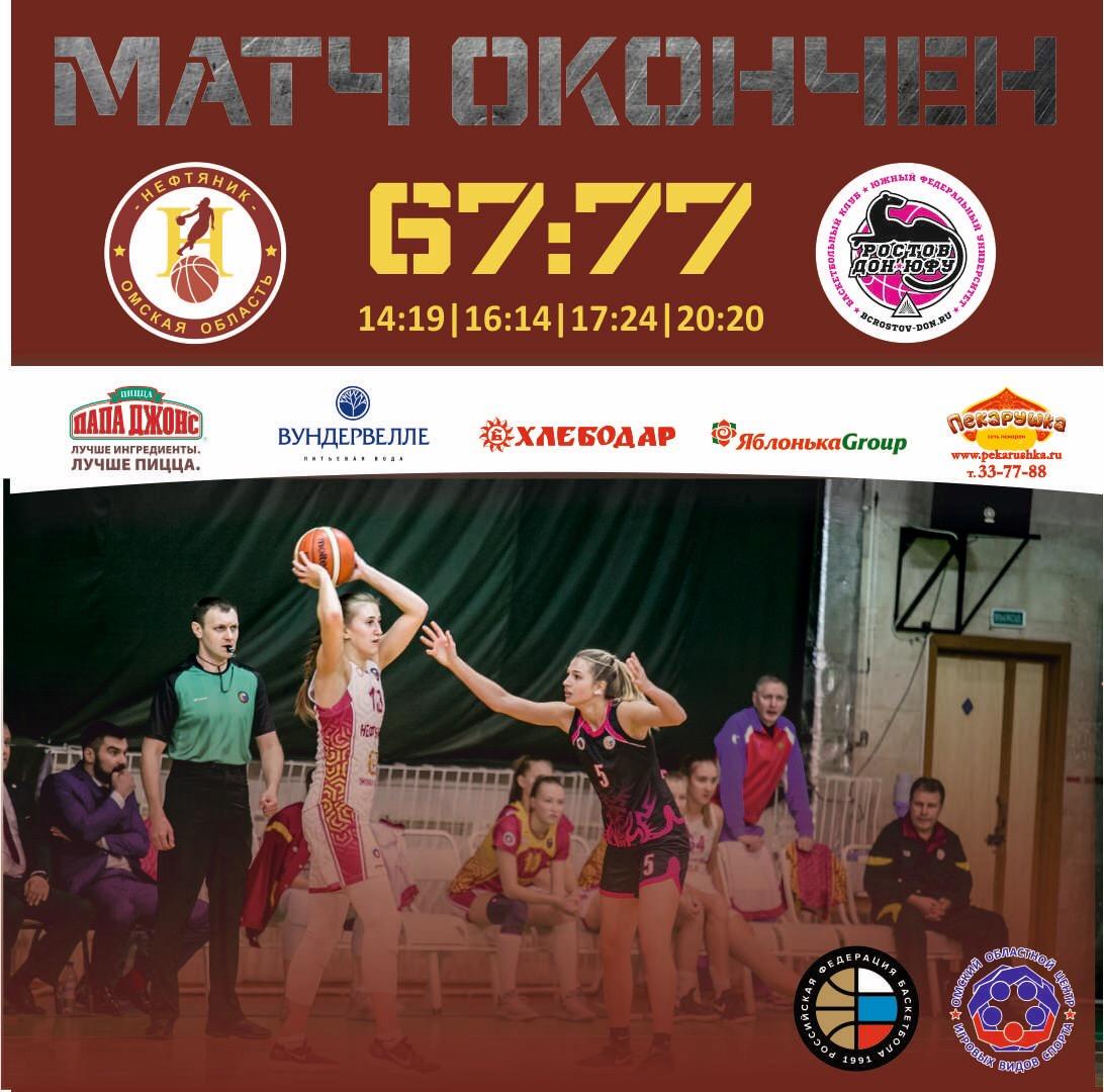 «Нефтяник» - «Ростов-Дон-ЮФУ» - 67:77