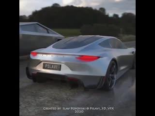Cybertruck and Tesla Roadster 2020
