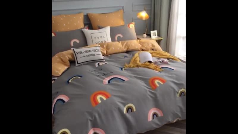 Комплект постельного белья L191 из коллекции Делюкс Сатин 100% хлопок