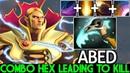 ABED Invoker Next Level Pro Combo Hex Leading to Kill 7.22 Dota 2