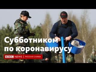 Лукашенко вышел на субботник в коронавирус