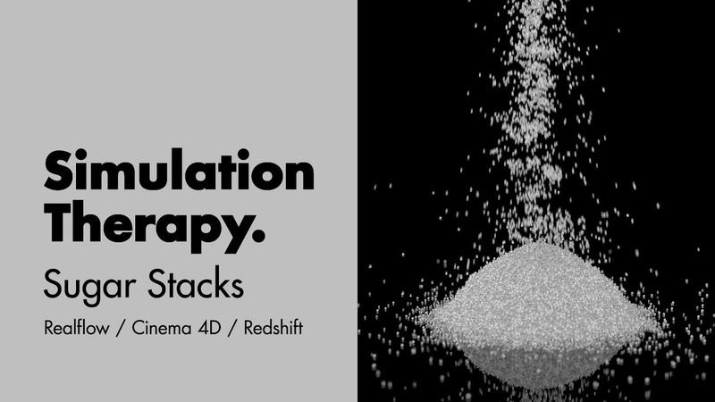 Sugar Stacks pt 01 How to set up a granular solve inside of Realflow for Cinema 4D