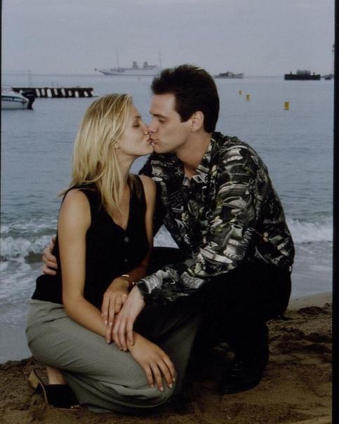 Джим Керри и Кэмерон Диаз на Каннском кинофестивале, 1994 год