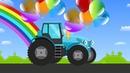 Мультик раскраска про трактор по имени КОША. Развивающие мультики для детей. 0