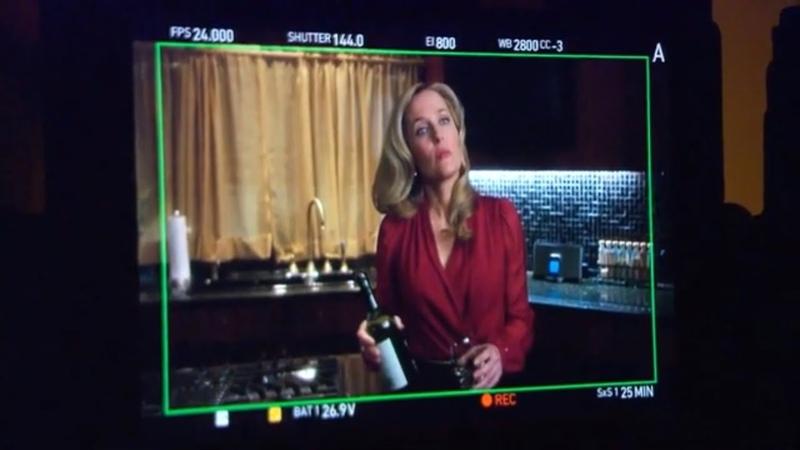 Gillian Anderson 'Hannibal Sorbet' behind the scenes 2013