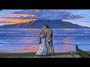 Peindre Couple Plage Ile Tropicale Complet Demonstration D'artiste Peintre Coucher Du Soleil