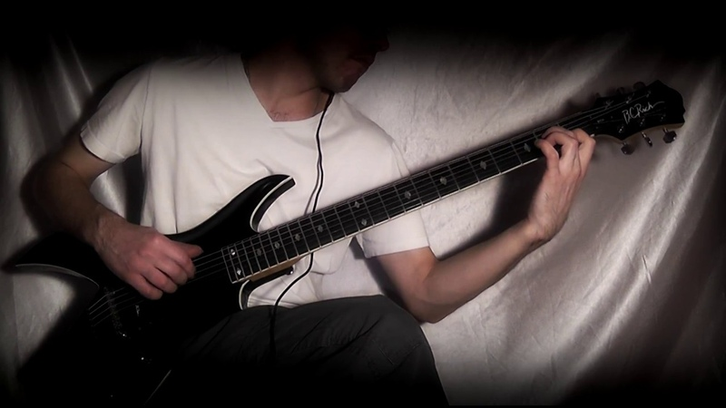 B C Rich Baritone Archtop SE guitar demo pt 1 clean sound