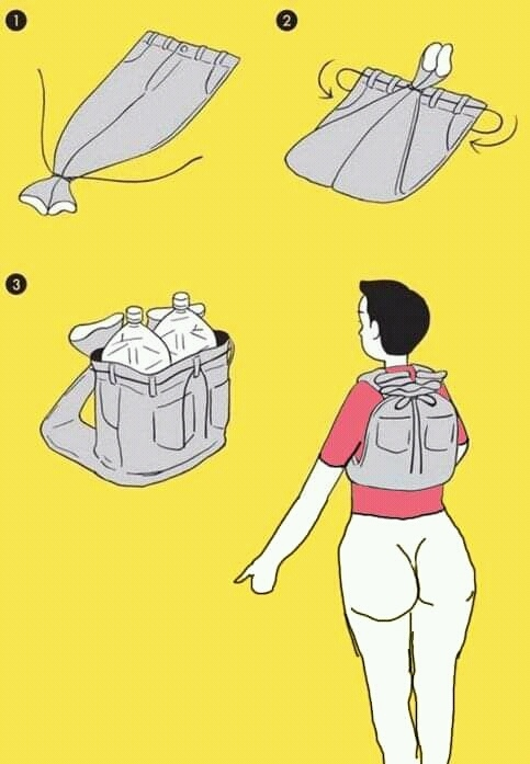 Как сделать рюкзак в экстренной ситуации