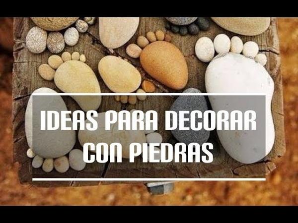 Ideas para decorar con piedras