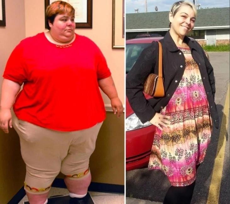 33-летняя Паула Джонс выглядит потрясающе похудев с 245кг до 90кг