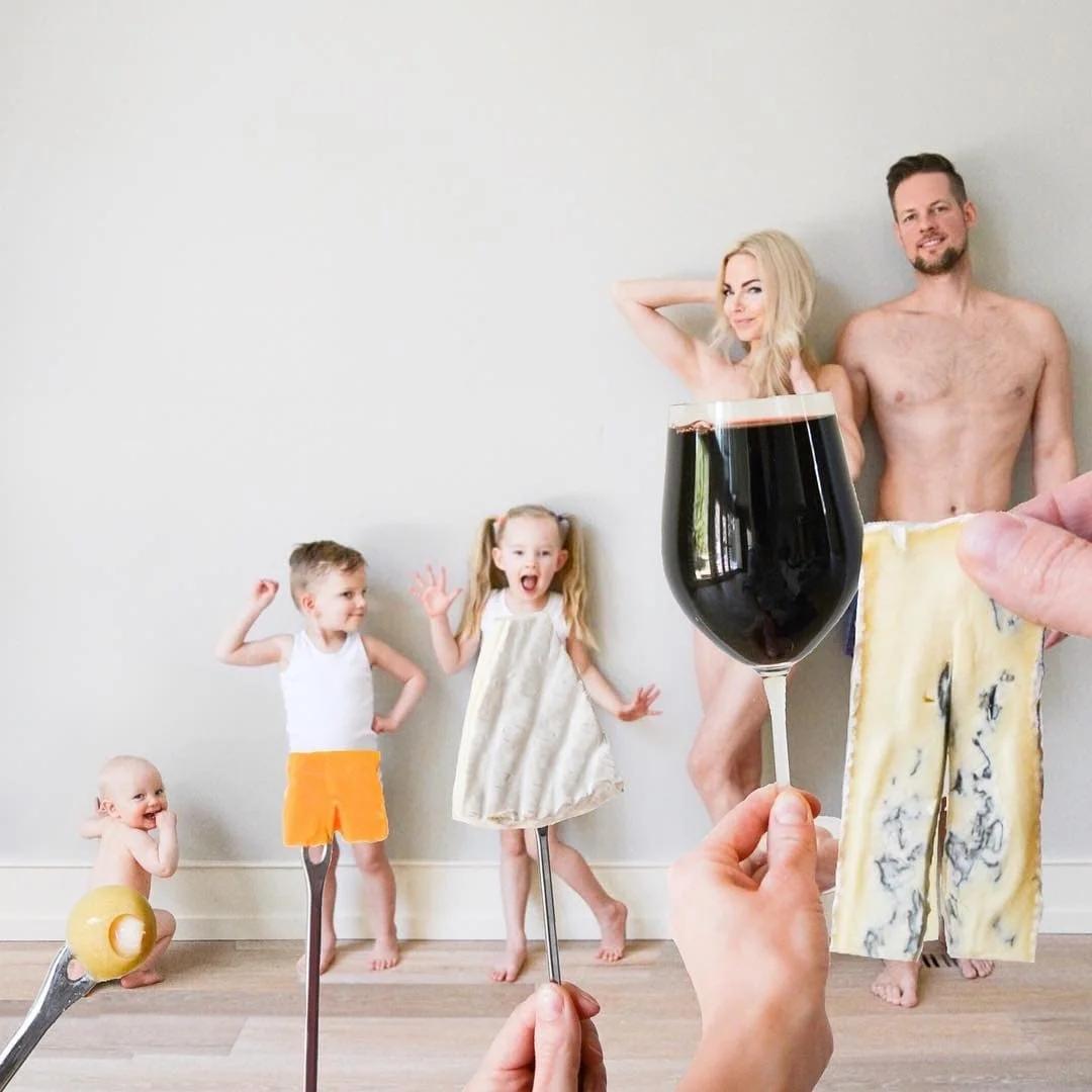 Кейт Вейланд - счастливая мать троих детей и создательница вкусной (и совершенно нелепой) серии фотографий еды Our Family Bites.
