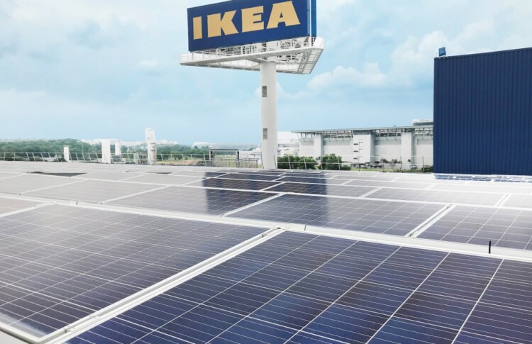 ИКЕА начали работать на солнечной энергии