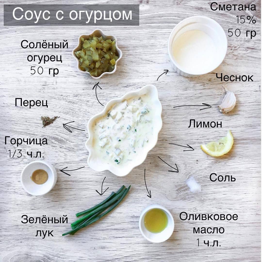 СОУС С СОЛЁНЫМ ОГУРЦОМ
