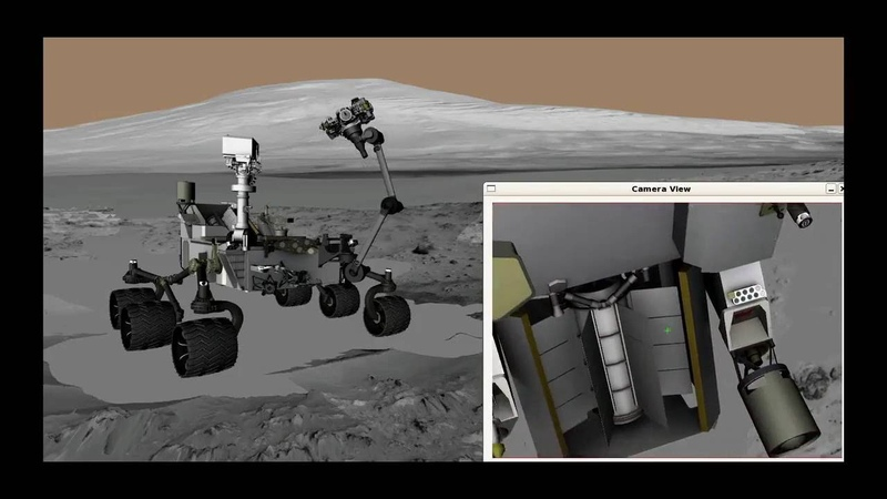 Animation of Curiosity Rover's Arm Movements for Taking a Self Portrait