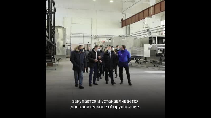 Губернатор Курганской области Вадим Шумков на производстве вездеходов Бурлак