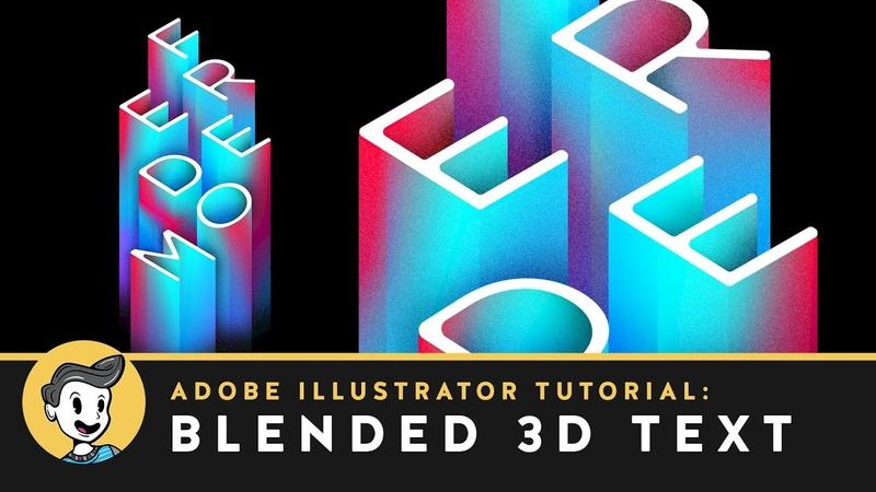 Blended 3D Text Effect in Adobe Illustrator