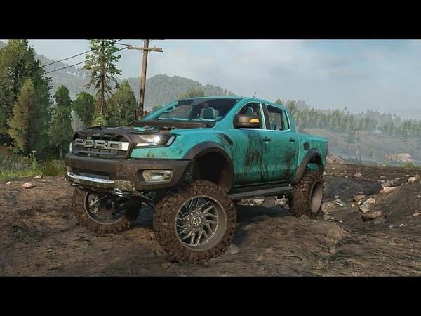 SnowRunner Моды Ford Ranger Raptor Оффроуд Тест драйв