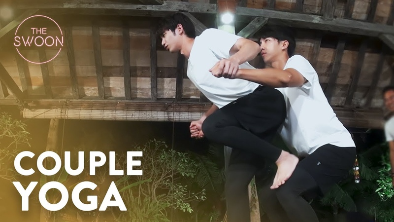Couple yoga bonding time for Lee Seung gi and Jasper Liu Twogether Ep 3 ENG SUB