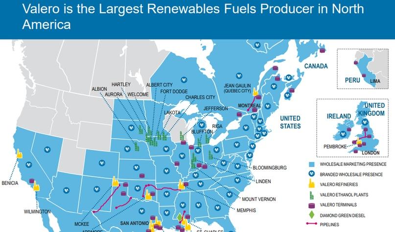 Имея с Darling Ingredients совместное предприятие под названием Diamond Green Diesel, Valero является крупнейшим поставщиком возобновляемого и биодизеля в Северной Америке. Совместное предприятие планируется расширить до 2024-го года и сделать его одним из крупнейших в мире производителей дизельного топлива на основе биомассы
