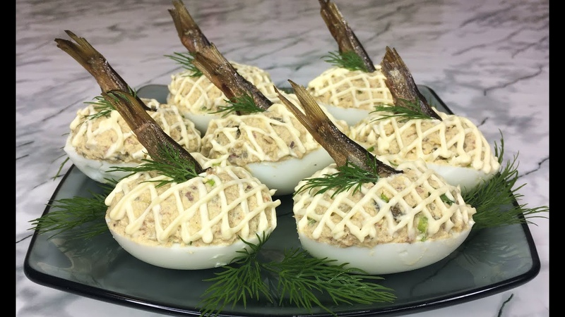 Праздничные Яйца Фаршированные Шпротами Вкуснейшая Закуска На Новый Год Stuffed Eggs