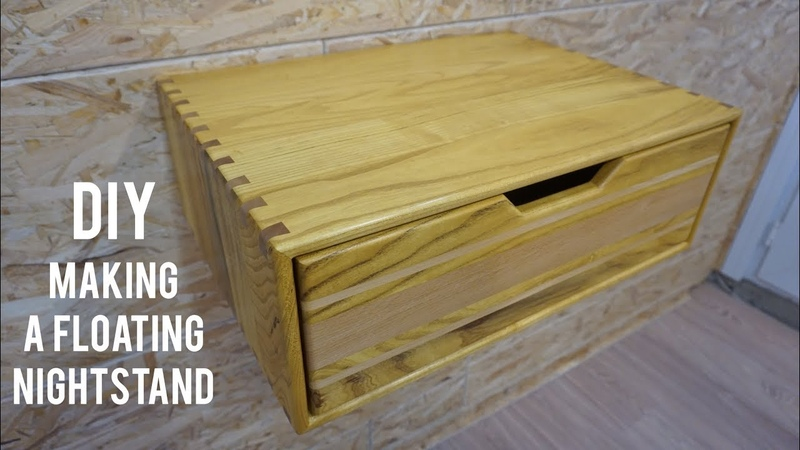 Asma komodin yapimi Making a floating nightstand Floating nightstand diy Ahşap komodin
