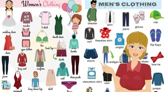 Clothes Vocabulary: List of Clothes and Accessories in English | Clothes Names with Pictures