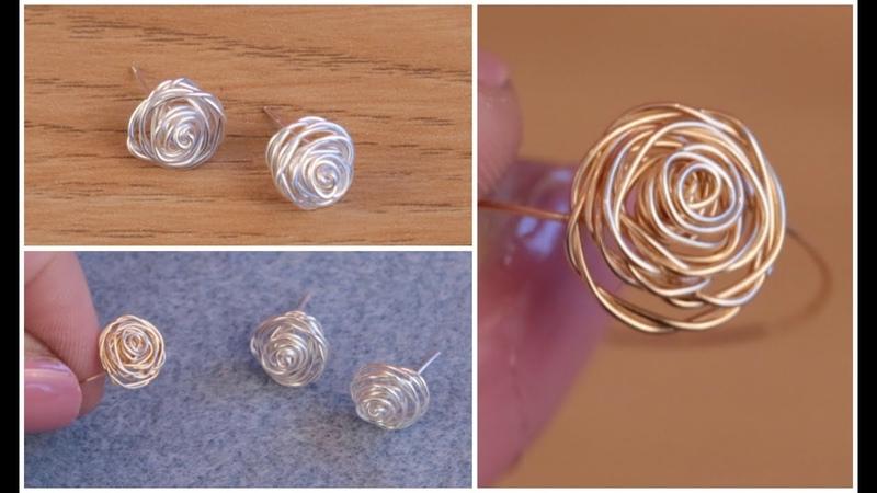 DIY Make Silver Stud Earrings Rose Jewellery with Jessica Rose