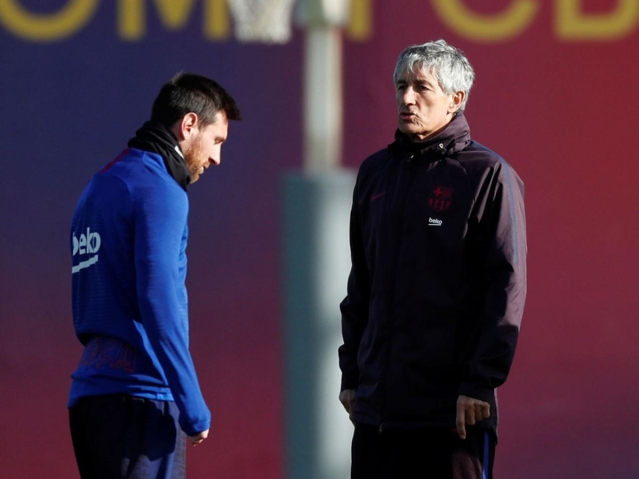 Кике Сетьен и Лионель Месси. ФК Барселона