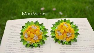 3D Новый Лепесток Цветы Канзаши Резинки Kanzashi Hair Bobbles Flores