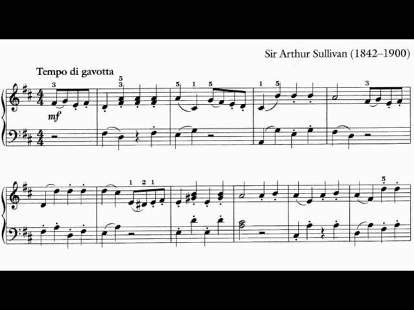 ABRSM Piano 2013-2014 Grade 2 B:6 B6 Sullivan Gavotte from the Gondoliers arr Hall Sheet Music