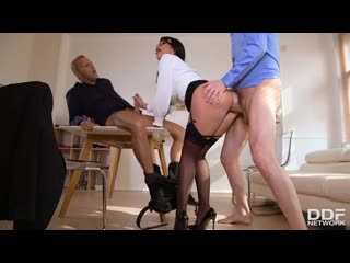 Valentina Ricci - Busty Boss Pounded By Colleagues [All Sex, Hardcore, Blowjob, Anal, MILF, Big Tits, Double, Lingerie]