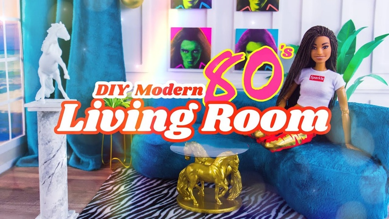 DIY How to Make Modern 80's Living Room Sofa Table Statue more