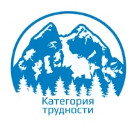 """Логотип ТУР.КЛУБ """"КАТЕГОРИЯ ТРУДНОСТИ"""" / ТЮМЕНЬ / ПОХОДЫ"""