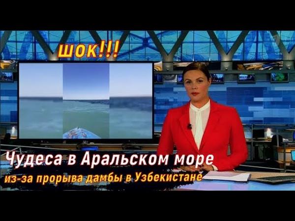 Шок Чудеса в Аральском море из за прорыва дамбы в Узбекистане