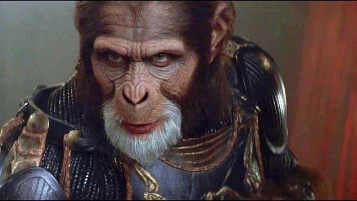 Планета обезьян 2001 Full HD фантастика боевик триллер приключения