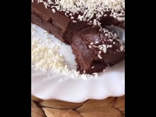 Шоколадный десерт без муки и выпечки