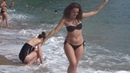 Девушки на пляже Могрен, Будва, Черногория Girls on the beach of Mogren, Budva Montenegro