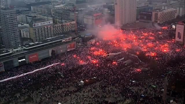 Poland's National Independence Day in Warsaw 100th anniversary · coub коуб