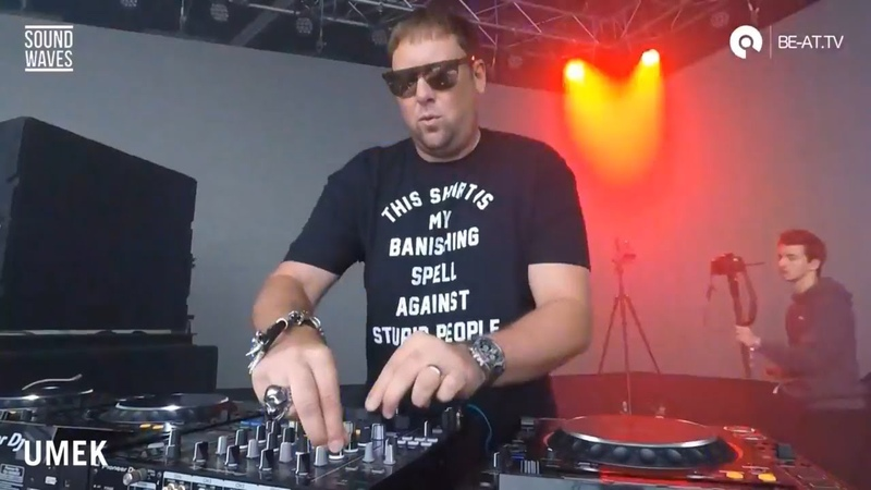 Slovenian Techno Legend Umek LIVE from Sound Waves 2019 on BE