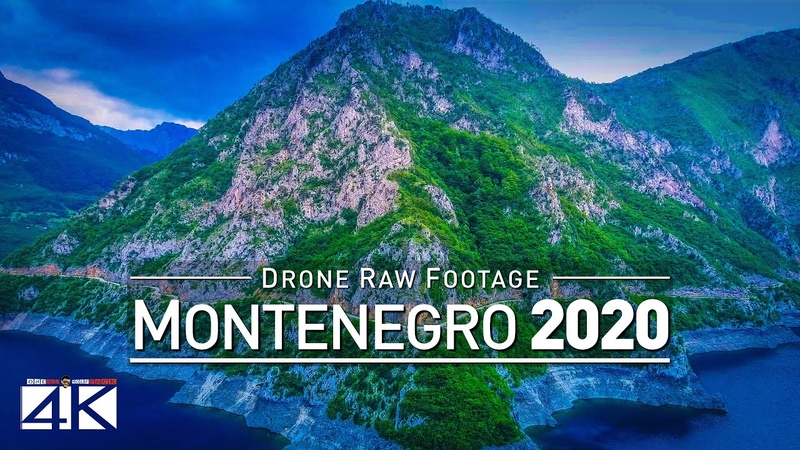4K Drone RAW Footage This is MONTENEGRO 2020 Podgorica Budva and More UltraHD Stock Video