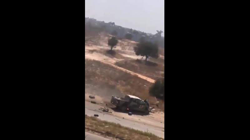 Ливия.Засада сил ПНС на пикап ЛНА