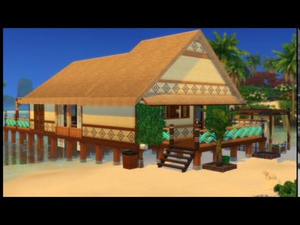 Cosh bungalow on the ocean shore BUILDING OVERVIEW THE SIMS 4