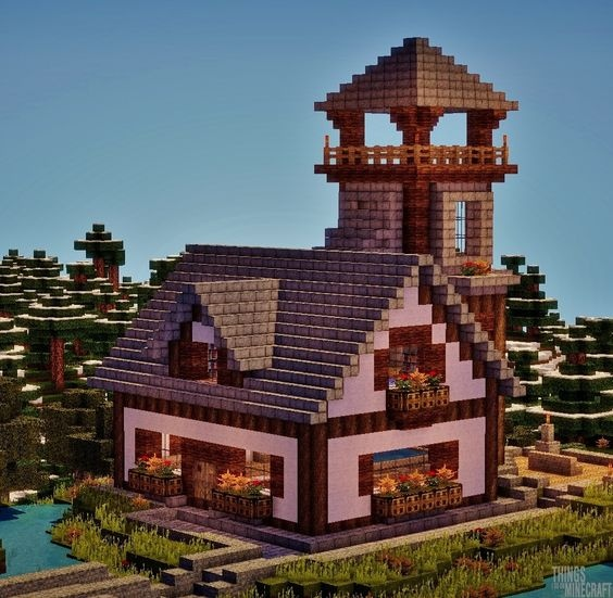 картинки красивых домов в майнкрафте #11